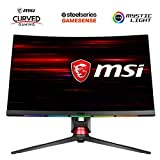 "MSI MPG27CQ - Monitor Gaming de 27"", WQHD 144Hz (2560 x 1440p, Pantalla Curva de 1800R, 1 ms, Brillo 400, Anti-Glare, NTSC de 1 y SRGB de 1.15) Negro"