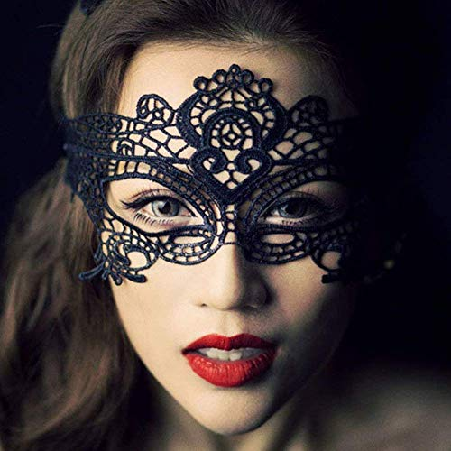 Ogquaton Exquisite königin Spitze Maske mehrere nutzung sexy Cosplay Masken Polyester Stoff Spitze Maskerade Maske für Frauen und mädchen, neuheit schmuck langlebig und praktisch (Maskerade Maske Für Mädchen)