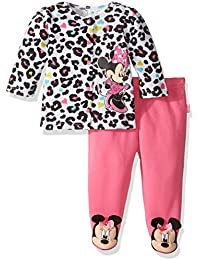 Disney Baby Girls Minnie Mouse Fleece Jacket and Pant Set