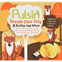 Pulsin' 25 g Orange Choc Chip Fruity Oat Bar - Pack of 6