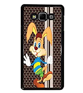 PrintDhaba Bunny D-3342 Back Case Cover for SAMSUNG GALAXY A8 (Multi-Coloured)
