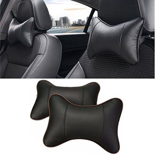 Preisvergleich Produktbild Auto Hals Kissen, JELEGAN Atmungsaktiv Auto Sitz Kopf Hals Sich ausruhen Kissen Entspannen Sie sich Hals Unterstützung Kopfstütze Gemütlich Weich Kissen zum Reise Auto Sitz [Packung mit 2]