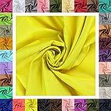 maDDma  5m Futterstoff Breite 148cm, Farbwahl, Farbe:gelb