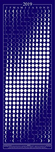 Equinox 2019 moon phase calendar – beautifully silk screened, packed with lunar & solar data & mercury retrogrades.