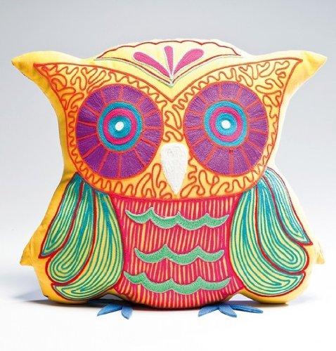 Kissen Fiesta Owl in versch. Farben, Farbe:gelb
