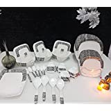 Apex Silk Melamine Set Of 41 Pcs Serving Dinner Set