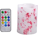 Premium Rose Petals LED Candle Colour Changing 12 Colours With Timer And Remote ~ Ideal For Decoration/Lights/Dinner/Romantic/Ambience/ Entertaining Guest