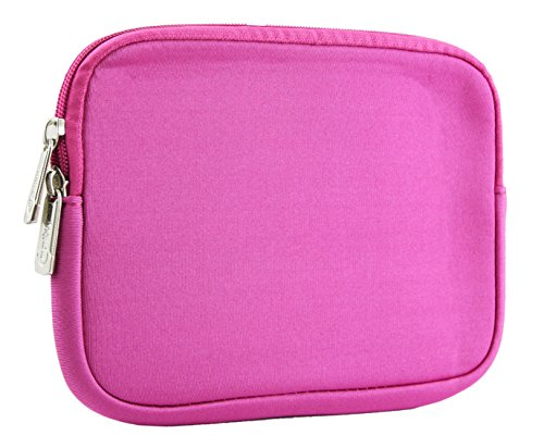 Emartbuy® Water Resistant Neoprene Soft Zip Case Cover Sleeve for Zync Z900 Plus Quad Core 3G Calling (Size 8 inch_Hot Pink Plain)