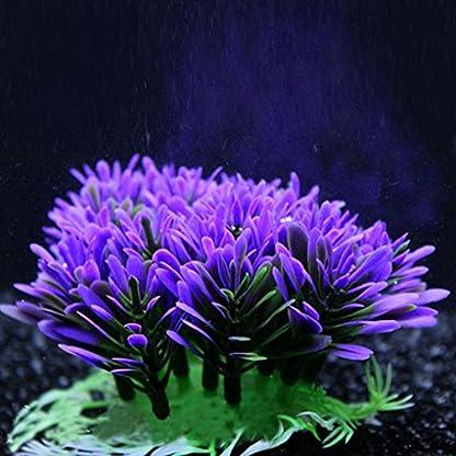 QHGstore Aquarium Decoration Artificial Water Plant Grass Plastic Purple Plant Fish Tank Landscape Ornament Decor 5