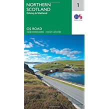 Northern Scotland, Orkney & Shetland 1:250 000 (OS Road Map)