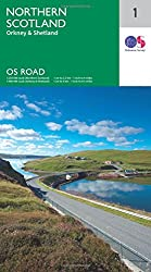 North Scotland. Orkney & Shetland (OS Road Map, Band 1)