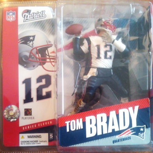 Tom Brady #12 New England Patriots White Jersey Chase Variant Alternate McFarlane NFL Series 11 Action Figure Six Inches High by McFarlane (Patriots Tom Brady Mcfarlane)