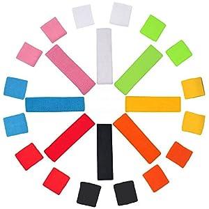 WS Kinder Schweissband-Stirnband + 2x Armband SET Kopfband NEON und andere Farben