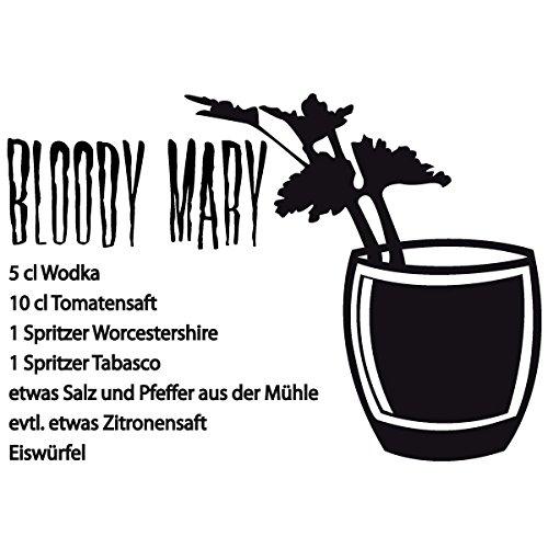 Preisvergleich Produktbild Wadeco Bloody Mary Wandtattoo Wandsticker Wandaufkleber 35 Farben verschiedene Größen, 32cm x 22cm, lindgrün