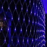 HJ® 300 LEDs 4.5*1.6 m Lichternetz innen und außen Lichterketten Verbindbarer Entwurf Lichtfarbe: Blau, Kabelfarbe transparent