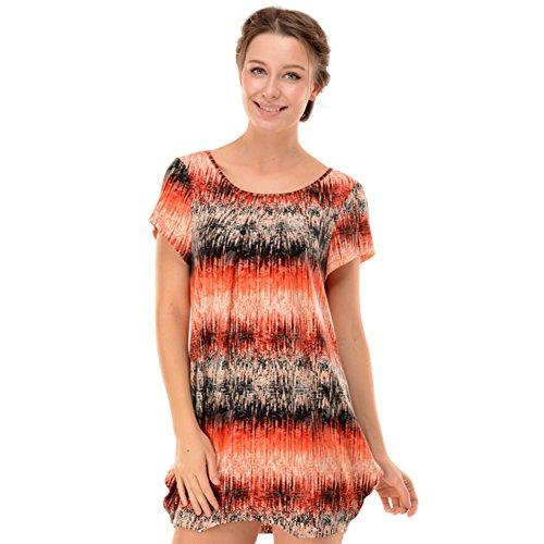 Mlle Xia Kuan pyjama/col rond Jupe en coton imprimé chemise à manches courtes/ Chemise de nuit siamois/ Lingerie comme vêtements de plein air B