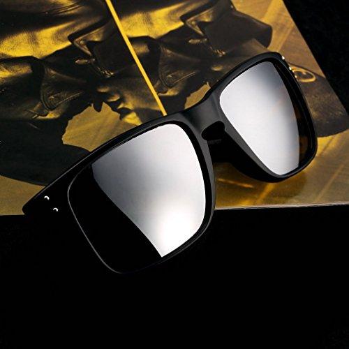 Rahmen schwarz + grau Objektiv Retro Sonnenbrille Eyewear Sport Motorrad Reiten Sport Sun Glasses FL