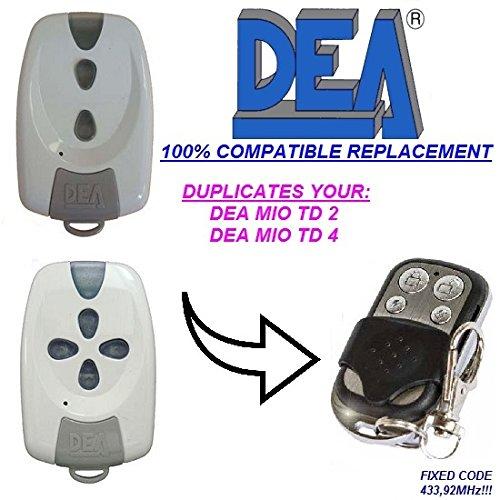 dea-mio-td-2-mio-td-4-compatible-telecommande-4-canaux-43392mhz-fixed-code-cloner-remplacement-de-ha