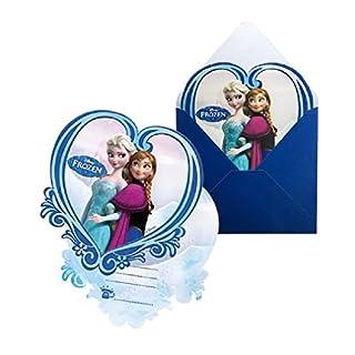 Pack von 6Einladungskarten mit Umschlag Frozen