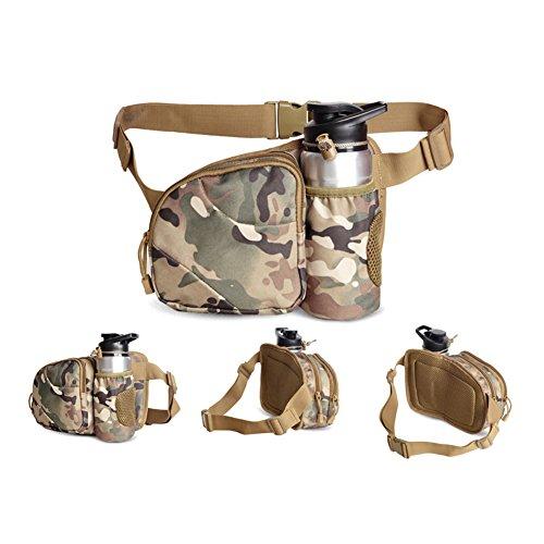 Etach Outdoor hiking running marsupio marsupio con portabottiglie idrorepellente marsupio, Camouflage Camouflage
