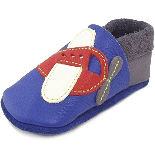 "POLOLO Krabbel- & Pantofole ""Aletta filatoio"" pattini bambino - Blu (california/grafite 740), Bambina, 22/23 EU Blu (blu)"