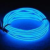 Tira de Luces 15ft LED Neon de colores,Mangueras Flexibles YiYunTE Iluminación de Tira con Controlador Box,2 AA Pilas Funcionado(azul)