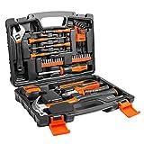 TACLKLIFE Caja de herramientas multiusos de 42 pieas.Herramientas metales de maletín universal de reparación multifuncional conjuntos bricolaje para casa HHK1A