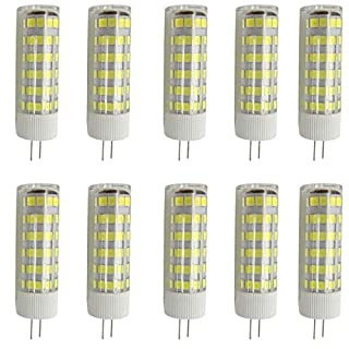 Aoxdi 10X G4 LED Bulbs 7W, 75 SMD 2835, Super Bright G4 LED Lamp, Energy Saving LED Light, Cool White, AC 220-240V