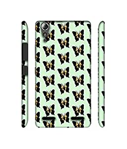 NattyCase Butterfly Pattern Design 3D Printed Hard Back Case Cover for Lenovo A6000 / A6000 Plus