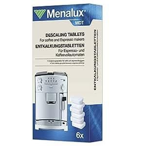 Original Markenware Menalux MDT Premium Entkalkungstabletten/für Kaffeevollautomaten/6 Tabs