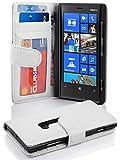 Coque Nokia Lumia 920 en ALBÂTRE BLANC Cadorabo Etui de Protection Complète avec Rabat à Clapet et 3 Fentes pour Cartes Pratiques en Simili-Cuir – Poche Protective Folio Housse Portefeuille avec Fermoire Magnétique - Flip Case Cover Wallet