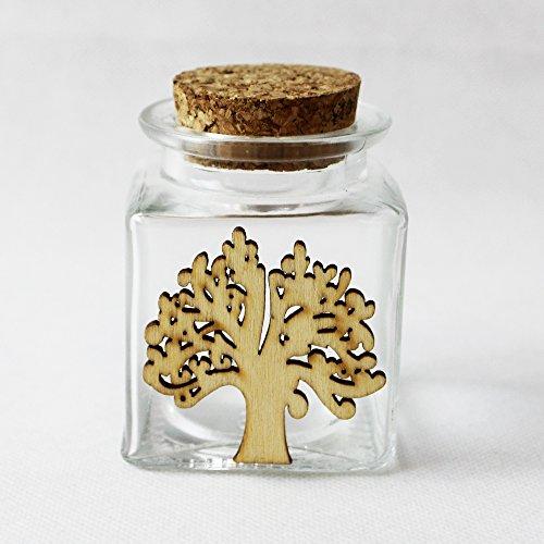 Dlm26222 (kit 12 pezzi) barattolo in vetro con albero della vita bomboniera segnaposto confettata bomboniera