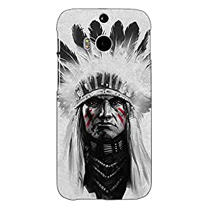 Jugaaduu Triabl Man Back Cover Case For HTC One M8 Eye