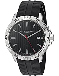 Raymond Weil Men's 'Tango' Swiss Quartz Stainless Steel and Rubber Casual Watch, Color:Black (Model: 8160-SR2-20001)