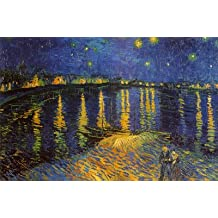 Vincent Van Gogh – Starry Night Over the Rhone 1888 Poster Drucken (81,28 x 60,96 cm)