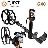 Quest Q40Q 40Combo Metal Detector Metalldetektor-Tasche Gold Münzen NEU