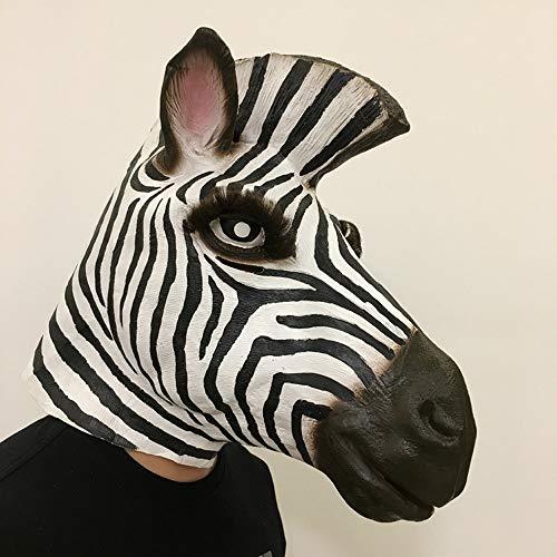 YaPin Tierwelt Große Ohren Zebra Maske Pferdekopf Maske Lustige Bühne Bar Party Performance Persönlichkeit Maske (Zebra-augen Halloween Make-up)