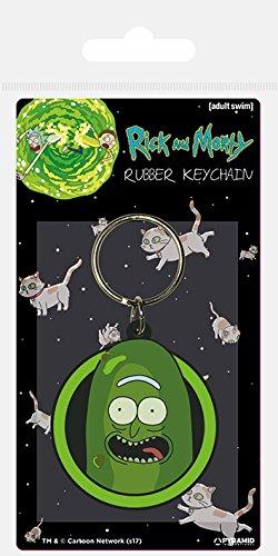Rick and Morty - Pickle Rick, Schlüsselanhänger aus Gummi, 4.5 x 6 cm
