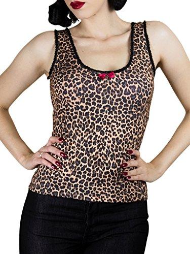 Rumble59 Ladies - Tanktop - Hot Leopard (Leder Schlüsselanhänger Schwarz Top-qualität)