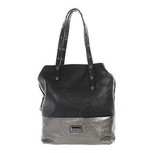 Preisvergleich Produktbild Liu Jo Santos Shopper schwarz / silber 28cm
