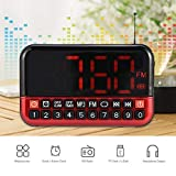 fosa Fm Radio Music Player Audio Speaker Led Display Support Alarm Clock Timed Shutdown Tf Card USB