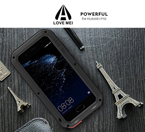 the best attitude 7f457 2b881 Details about Huawei P10 Waterproof Case, Love Mei Shockproof DustDirtSnow  Proof Aluminum Me