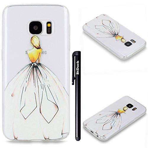 BtDuck Hülle für Samsung Galaxy S7 Edge Silikon Transparent, Durchsichtig TPU Silikon Schutzhülle...