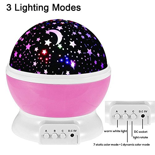 Babygeschenke FKANT Sternenhimmel Projektor Kinderlampe 360 Grad drehbar Weihnachtsgeschenke Romantische Dekoration 4 LED Wulst und...