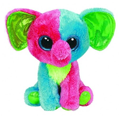 Beanie Boo Elephant - Elfie - Multicoloured - 15cm 6""