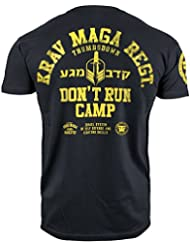 Krav Maga T-shirt. Thumbs Down. Don't Run Camp. Israel System Of Self Defense and Fighting Skills. MMA T-shirt