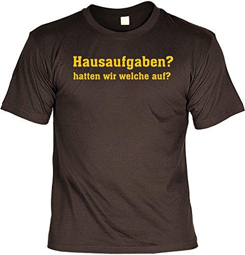 Preisvergleich Produktbild Witziges Sprüche Fun T-Shirt : Hausaufgaben Hatten wir welche auf
