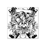 DIYthinker Schwarz Weiß Monster Kreuz Barock-Kunst-Winkel, Blume, Blatt Modern Illustration Muster Keramik Bisque Fliesen für Dekorieren Badezimmer-Dekor Küche Keramische Fliesen Wandfliesen M