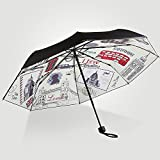 Flashing- Hit Tela de paraguas de tela Alumbre de aluminio paraguas de pie Sunscreen paraguas de sol, paraguas plegable de adultos creativos Tres paraguas plegable ( Tamaño : 103*59cm )