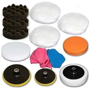 Set d'éponges de polissage 13 pièces pour machine à polir